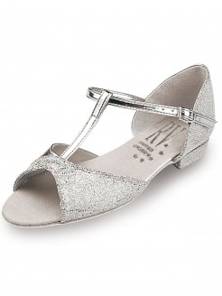 Roch Valley Stacey Ballroom Hologram Shoe with T-Bar Straps Low Heel