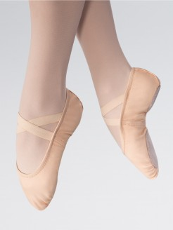 1st Position Split Sole Canvas 2 Way Stretch Ballet Shoe