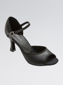 So Danca Leather Upper and Open Toe Latin Shoes