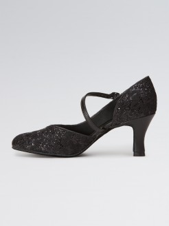 So Danca Sparkle Fabric Pattern Shoe with 2.5 inch Heel