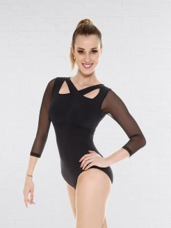 So Danca Long Sleeved Mesh Leotard
