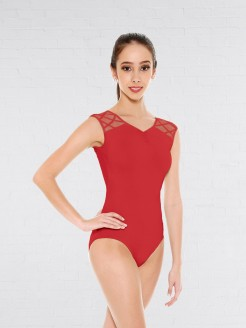 So Danca Leotard with Mesh Lycra® Cross Straps