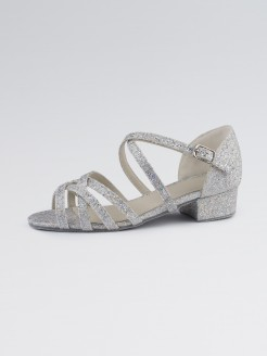 1st Position Ballroom Hologram Shoe X-Straps Low Heel