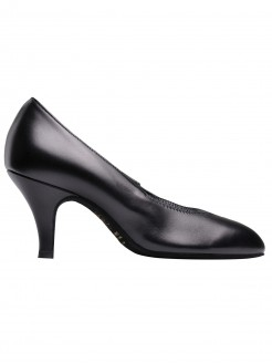 Supadance Round Toe Elasticated Leather Court Shoe