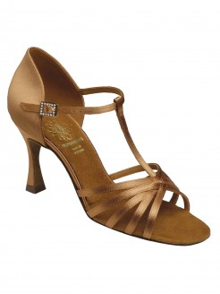 Supadance Latin Satin Sandal With T-Bar