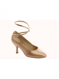 Supadance Satin Round Toe Court Shoe