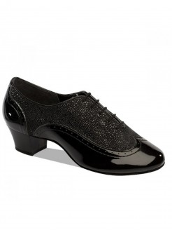 Supadance Patent/Black Stingray Mens Latin Shoe