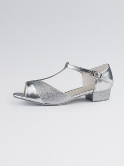 1st Position Childrens Ballroom PU with Sparkling Glitter Upper Low Heel