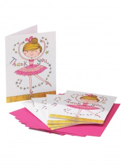 Small Ballerina Thank You Cards (Pk 5) - Main