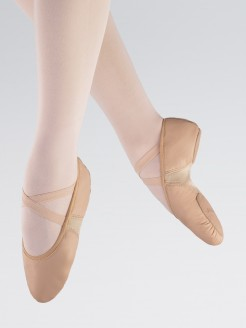 1st Position Split Sole Leather Flex Ballet Shoe