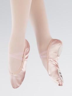 1st Position Pink Satin Split Sole Ballet Shoes