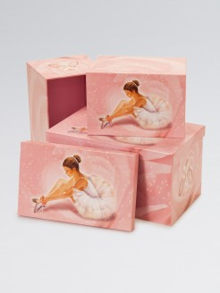 Ballerina Collection Storage Boxes Set of 3