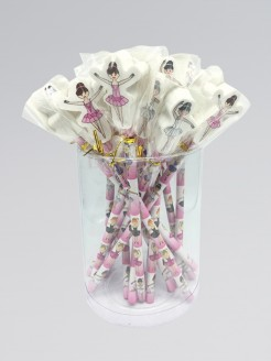 Ballerina Pencil with Eraser Topper