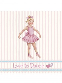 Little Ballerina  Stripe Melissa card