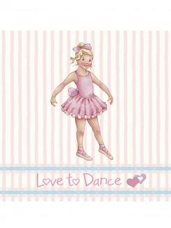 Little Ballerina Melissa Gestreifte Karte