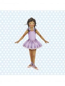 Little Ballerina Jasmine Blaue Karte mit Punkten