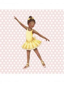 Little Ballerina Grace Rosafarbene Karte mit Punkten