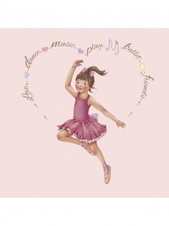 Little Ballerina Heart Amelia card