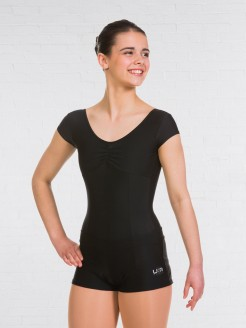 UKA  Modern and Jazz Cap Sleeve Leotard Black