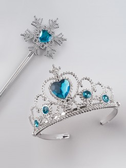 Tiara Blue Stone with Snowflake Wand