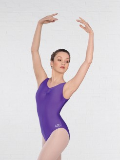 United Teachers of Dance Helena Ruched Lined Leotard Matt Nylon