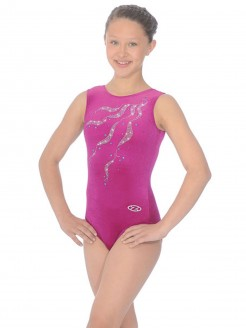 The Zone Ribbons Sleeveless Round Neck Leotard