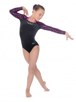 The Zone Astral Square Neck Long Sleeve Leotard